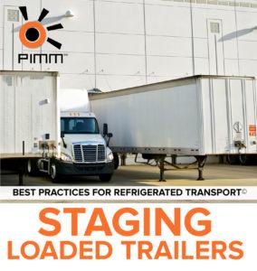 staging loaded trailer